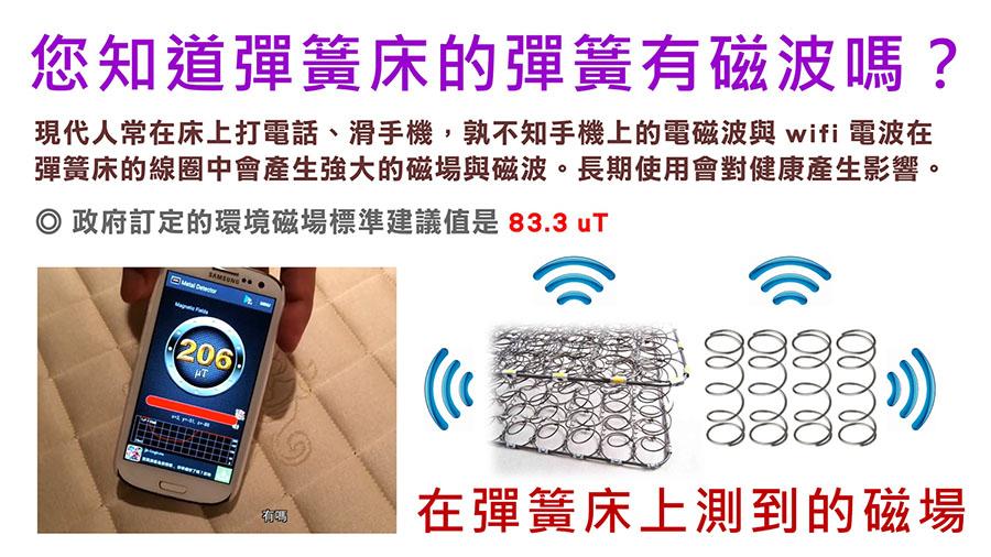 手機偵測彈簧床墊磁場